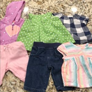 Lot of 6 gently used baby girl items!